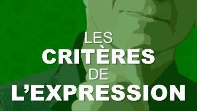 Critères de l'expression parlée